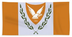 Beach Towel featuring the drawing Cyprus Coat Of Arms by Movie Poster Prints