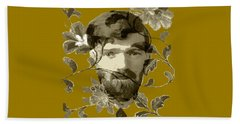 D H Lawrence Beach Towel by Asok Mukhopadhyay