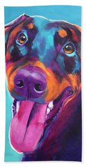 Doberman - Annie Beach Towel