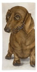 Dachshund Eyes Beach Towel