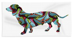 Dachshund Spirit Glass Beach Towel