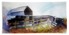 Dad's Farm House Beach Towel