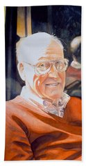 Dad's Red Sweater Beach Towel