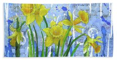 Daffodil Ding Dongs Beach Towel