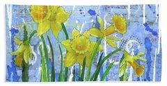 Daffodil Ding Dongs Beach Sheet