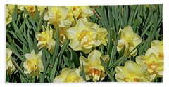 Beach Towel featuring the photograph Daffodilia by Lynda Lehmann