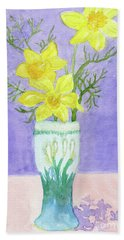 Daffodils Beach Towel