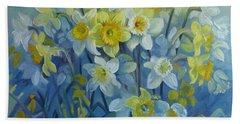 Daffodils Dance Beach Towel