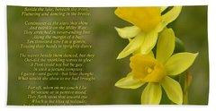 Daffodils Poem By William Wordsworth Beach Sheet