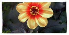 Dahlias Flower - Good Morning Sunshine Beach Sheet