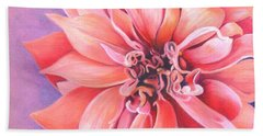 Beach Towel featuring the drawing Dahlia 2 by Phyllis Howard