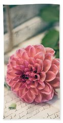 Dahlia Bloom Beach Towel