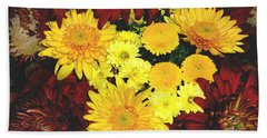 Dahlia Display Beach Towel