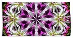 Dahlia Flower Circle Beach Sheet