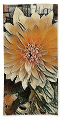 Dahlia Mocha Latte Beach Towel