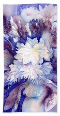 Dahlias Flower Bouquet Beach Towel