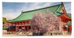 Daigukuden Main Hall Of Heian Jingu Shrine Beach Sheet