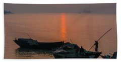 Daily Life Of Boatman Beach Towel