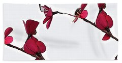 Dainty Red Double Stem  Beach Sheet by Kirt Tisdale