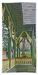 Beach Towel featuring the photograph Dairy Cottage Porch by Sandy Moulder