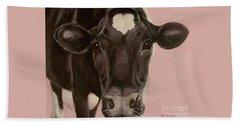 Dairy Cow Princess In Pink Beach Towel