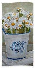 Daisies And Porcelain Beach Towel