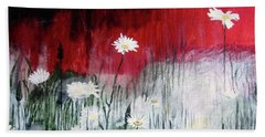 Beach Sheet featuring the painting Daisies by Mary Ellen Frazee