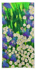 Daisy And Glads Beach Towel by George Riney