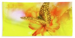 Daisy For A Butterfly Beach Towel