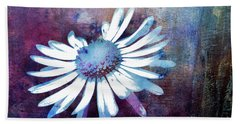 Beach Towel featuring the mixed media Daisy by Jutta Maria Pusl