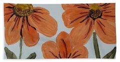 Daisy-like Flowers Beach Sheet