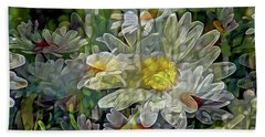 Daisy Mystique 8 Beach Towel by Lynda Lehmann