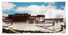 Dalai Lama Home Place. Potala Palace  Kailash Yantra.lv 2016 Tibet Beach Towel