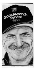 Dale Earnhardt Sr In 2001 Beach Towel by J McCombie