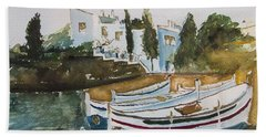 Dali House From Portlligat Beach Towel by Manuela Constantin