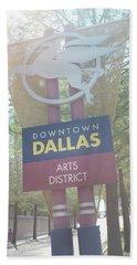 Dallas Arts District Beach Towel
