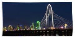 Dallas Bridge View Beach Towel