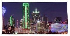 Dallas City Skyline Beach Towel