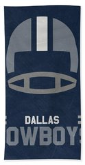 Dallas Cowboys Vintage Art Beach Sheet by Joe Hamilton