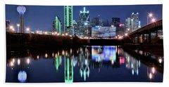 Dallas Dark Blue Night Beach Towel