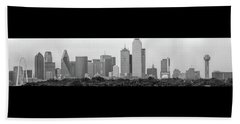 Dallas In Black And White Beach Sheet by Jonathan Davison