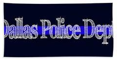 Dallas Police Dept. Blue Line Mug Beach Towel