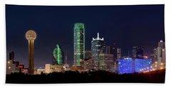 Dallas Skyline 071316 Beach Towel