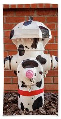 Beach Towel featuring the photograph Dalmation Hydrant by James Eddy