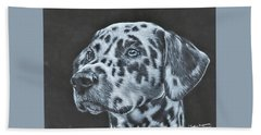 Dalmation Portrait Beach Towel