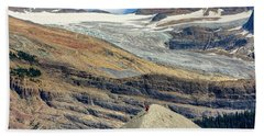 Daly Glacier And Yoho National Park Adventure Beach Sheet