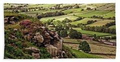 Danby Dale Yorkshire Landscape Beach Towel