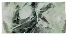 Beach Towel featuring the painting Dance Flamenco Art  by Gull G