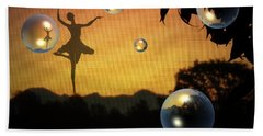 Beach Towel featuring the photograph Dance Of A New Day by Joyce Dickens