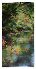 Dance Of Color And Light Beach Towel